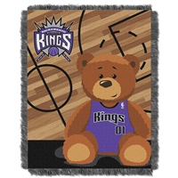 Sacramento Kings NBA Triple Woven Jacquard Throw (Half Court Baby Series) (36x48)