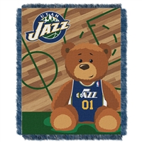 Utah Jazz NBA Triple Woven Jacquard Throw (Half Court Baby Series) (36x48)