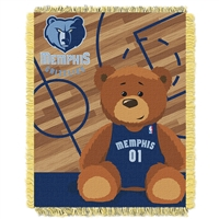 Memphis Grizzlies NBA Triple Woven Jacquard Throw (Half Court Baby Series) (36x48)