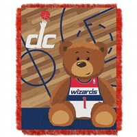 Washington Wizards NBA Triple Woven Jacquard Throw (Half Court Baby Series) (36x48)