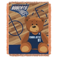 Charlotte Bobcats NBA Triple Woven Jacquard Throw (Half Court Baby Series) (36x48)