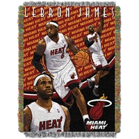 "Miami Heat NBA Woven Tapestry Throw Blanket (48x60"")"""