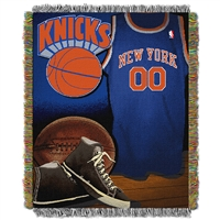 New York Knicks NBA Woven Tapestry Throw (Vintage Series) (48x60)