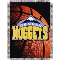 "Denver Nuggets NBA Woven Tapestry Throw (48x60"")"""
