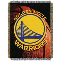 "Golden State Warriors NBA Woven Tapestry Throw (48x60"")"""