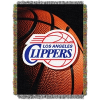 "Los Angeles Clippers NBA Woven Tapestry Throw (48x60"")"""