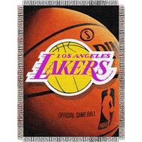 "Los Angeles Lakers NBA Woven Tapestry Throw Blanket (48x60"")"""