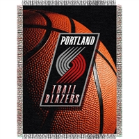 "Portland Trail Blazers NBA Woven Tapestry Throw (48x60"")"""