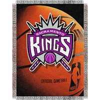 "Sacramento Kings NBA Woven Tapestry Throw Blanket (48x60"")"""