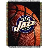 "Utah Jazz NBA Woven Tapestry Throw (48x60"")"""