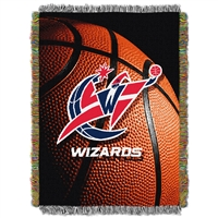 Washington Wizards NBA Woven Tapestry Throw Blanket (48x60)