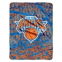 New York Knicks NBA Micro Raschel Blanket (Redux Series) (46in x 60in)