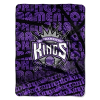 Sacramento Kings NBA Micro Raschel Blanket (Redux Series) (46in x 60in)