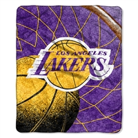 "Los Angeles Lakers NBA Sherpa Throw (Reflect Series) (50x60"")"""