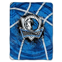 Dallas Mavericks NBA Royal Plush Raschel Blanket (Shadow Series) (60x80)