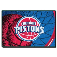 "Detroit Pistons NBA Tufted Rug (59x39"")"""