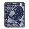 Dallas Cowboys NFL Triple Woven Jacquard Throw (Double Play) (48x60)
