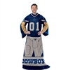 Dallas Cowboys NFL Uniform Comfy Throw Blanket w/ Sleeves