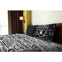 Northwest Oakland Raiders NFL Twin Sheet Set (Anthem Series)