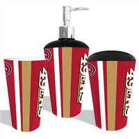 San Francisco 49ers NFL Bath Tumbler, Toothbrush Holder & Soap Pump (3pc Set)