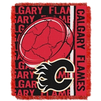 Calgary Flames NHL Triple Woven Jacquard Throw (Double Play Series) (48x60)