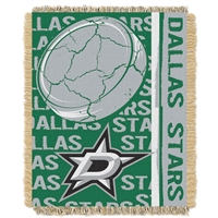 Dallas Stars NHL Triple Woven Jacquard Throw (Double Play Series) (48x60)