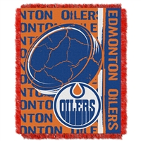 Edmonton Oilers NHL Triple Woven Jacquard Throw (Double Play Series) (48x60)