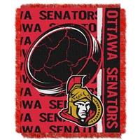 Ottawa Senators NHL Triple Woven Jacquard Throw (Double Play Series) (48x60)