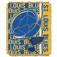 St. Louis Blues NHL Triple Woven Jacquard Throw (Double Play Series) (48x60)