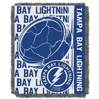Tampa Bay Lightning NHL Triple Woven Jacquard Throw (Double Play Series) (48x60)