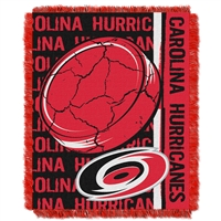 Carolina Hurricanes NHL Triple Woven Jacquard Throw (Double Play Series) (48x60)