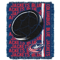 Columbus Blue Jackets NHL Triple Woven Jacquard Throw (Double Play Series) (48x60)