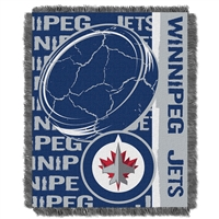 Winnipeg Jets NHL Triple Woven Jacquard Throw (Double Play Series) (48x60)