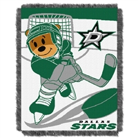 Dallas Stars NHL Triple Woven Jacquard Throw (Score Baby Series) (36x48)