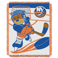 New York Islanders NHL Triple Woven Jacquard Throw (Score Baby Series) (36x48)