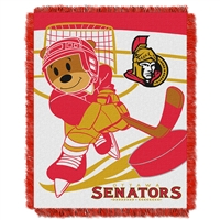 Ottawa Senators NHL Triple Woven Jacquard Throw (Score Baby Series) (36x48)