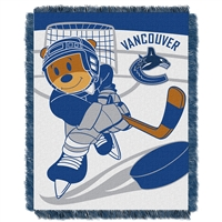 Vancouver Canucks NHL Triple Woven Jacquard Throw (Score Baby Series) (36x48)