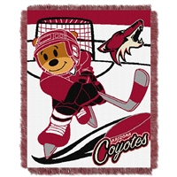 Phoenix Coyotes NHL Triple Woven Jacquard Throw (Score Baby Series) (36x48)