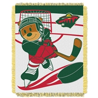 Minnesota Wild NHL Triple Woven Jacquard Throw (Score Baby Series) (36x48)