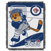 Winnipeg Jets NHL Triple Woven Jacquard Throw (Score Baby Series) (36x48)