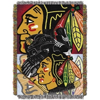 "Chicago Blackhawks NHL Woven Tapestry Throw (Home Ice Advantage) (48x60"")"""