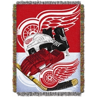 "Detroit Red Wings NHL Woven Tapestry Throw Blanket (Home Ice Advantage) (48x60"")"""