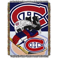 "Montreal Canadiens NHL Woven Tapestry Throw Blanket (Home Ice Advantage) (48x60"")"""