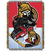 "Ottawa Senators NHL Woven Tapestry Throw Blanket (Home Ice Advantage) (48x60"")"""