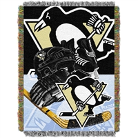 "Pittsburgh Penguins NHL Woven Tapestry Throw Blanket (Home Ice Advantage) (48x60"")"""