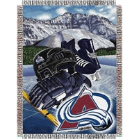 "Colorado Avalanche NHL Woven Tapestry Throw Blanket (48x60"")"""