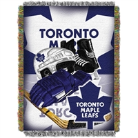 "Toronto Maple Leafs NHL Woven Tapestry Throw Blanket (Home Ice Advantage) (48x60"")"""
