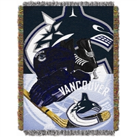 "Vancouver Canucks NHL Woven Tapestry Throw Blanket (Home Ice Advantage) (48x60"")"""