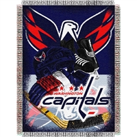 "Washington Capitals NHL Woven Tapestry Throw (Home Ice Advantage) (48x60"")"""