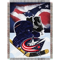 "Columbus Blue Jackets NHL Woven Tapestry Throw (Home Ice Advantage) (48x60"")"""